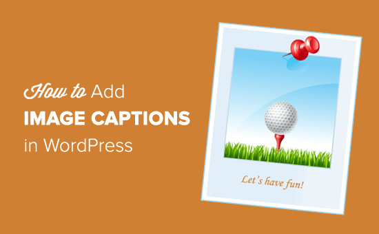 How to Add Caption to Images in WordPress