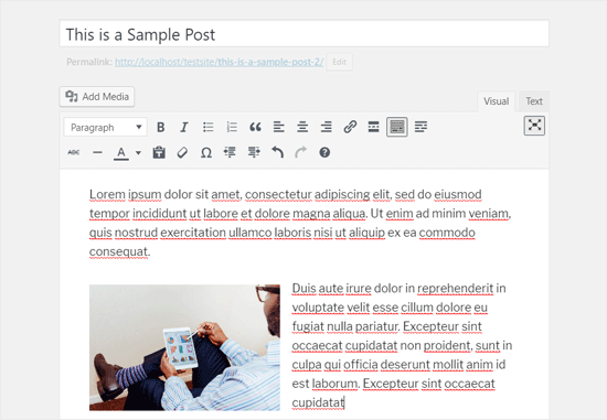 Fullscreen Classic WordPress Editor in Visual Mode