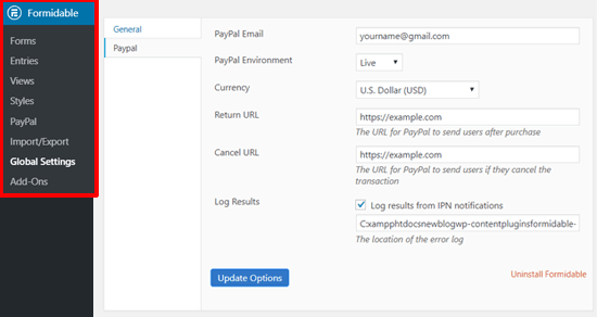 Set Up PayPal with Formidable Forms