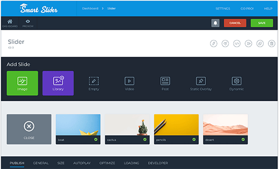 Smart Slider 3 user interface