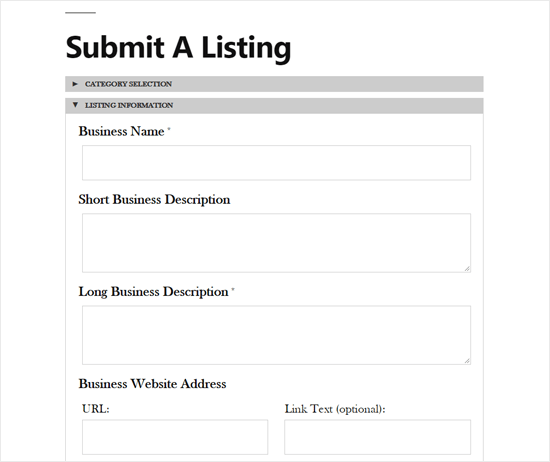 Submit a Listing with the Business Directory Plugin