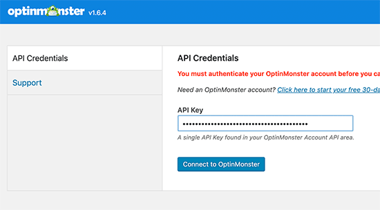 Connect to OptinMonster