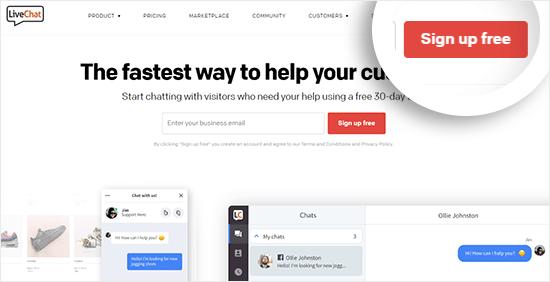 LiveChat Inc Website