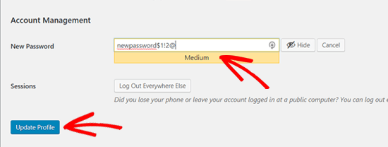 Создайте надежный пароль WordPress и сохраните его