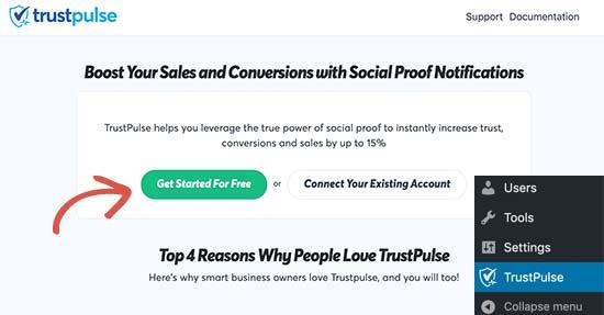 Подключите TrustPulse