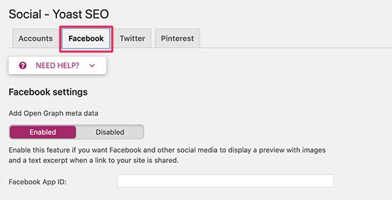 Enable Facebook Open Graph in WordPress using Yoast SEO