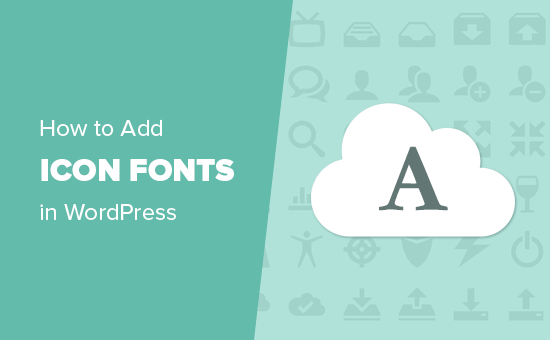 Using icon fonts with any WordPress theme