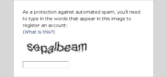 CAPTCHA gaya lama