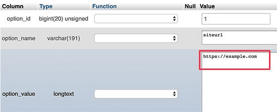 Edit option_value