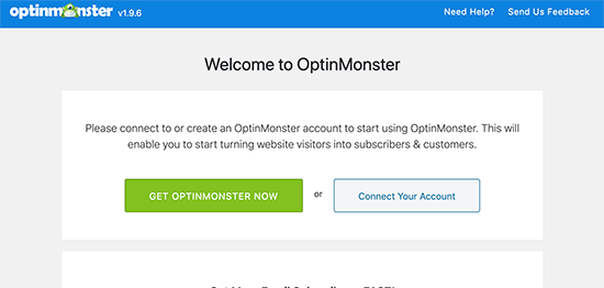 Connect OptinMonster to your website