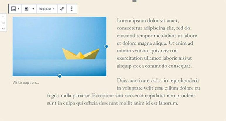 Afbeelding links uitgelijnd met tekst aan de rechterkant