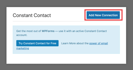 WPForm email list connection