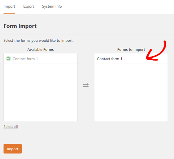 Forms to Import