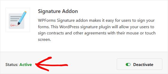 Digitally signed WordPress Form