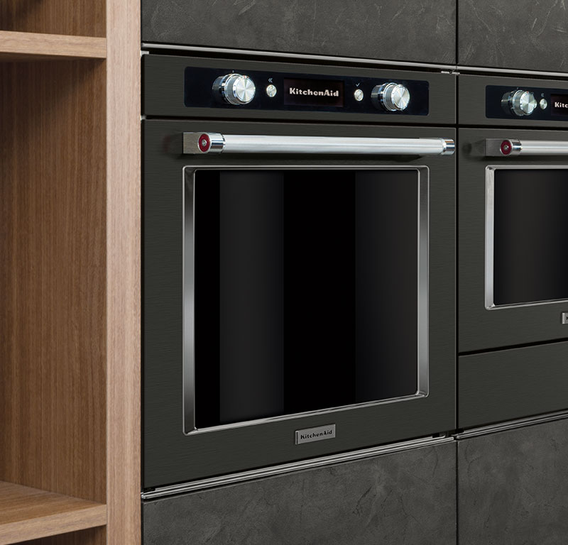 black stainless steel pyrolitic oven