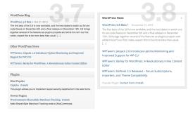 WordPress Dashboard (3.8) - News/Plugins