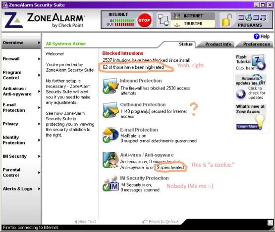 Zone Alarm Console
