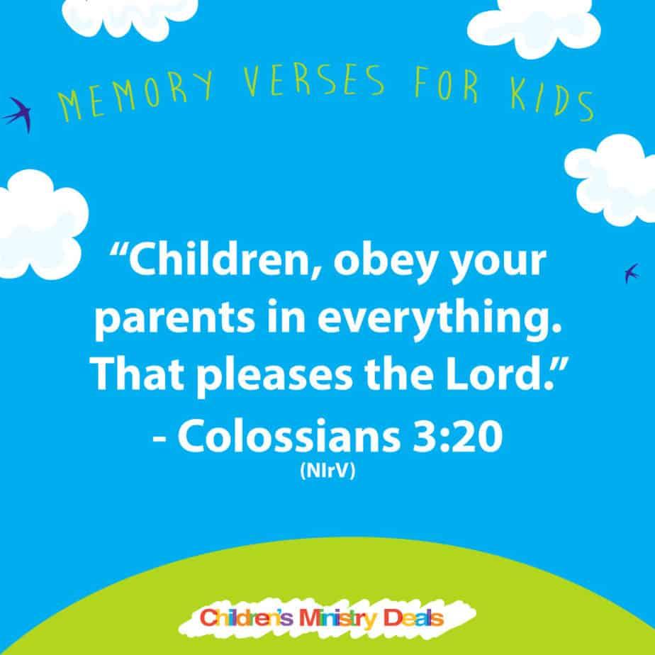 Colossians 3 20 Memory Verse (1)