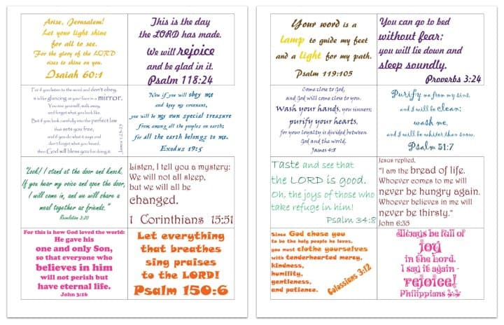 Committed: Family Bible Verse Cards - Free Printables