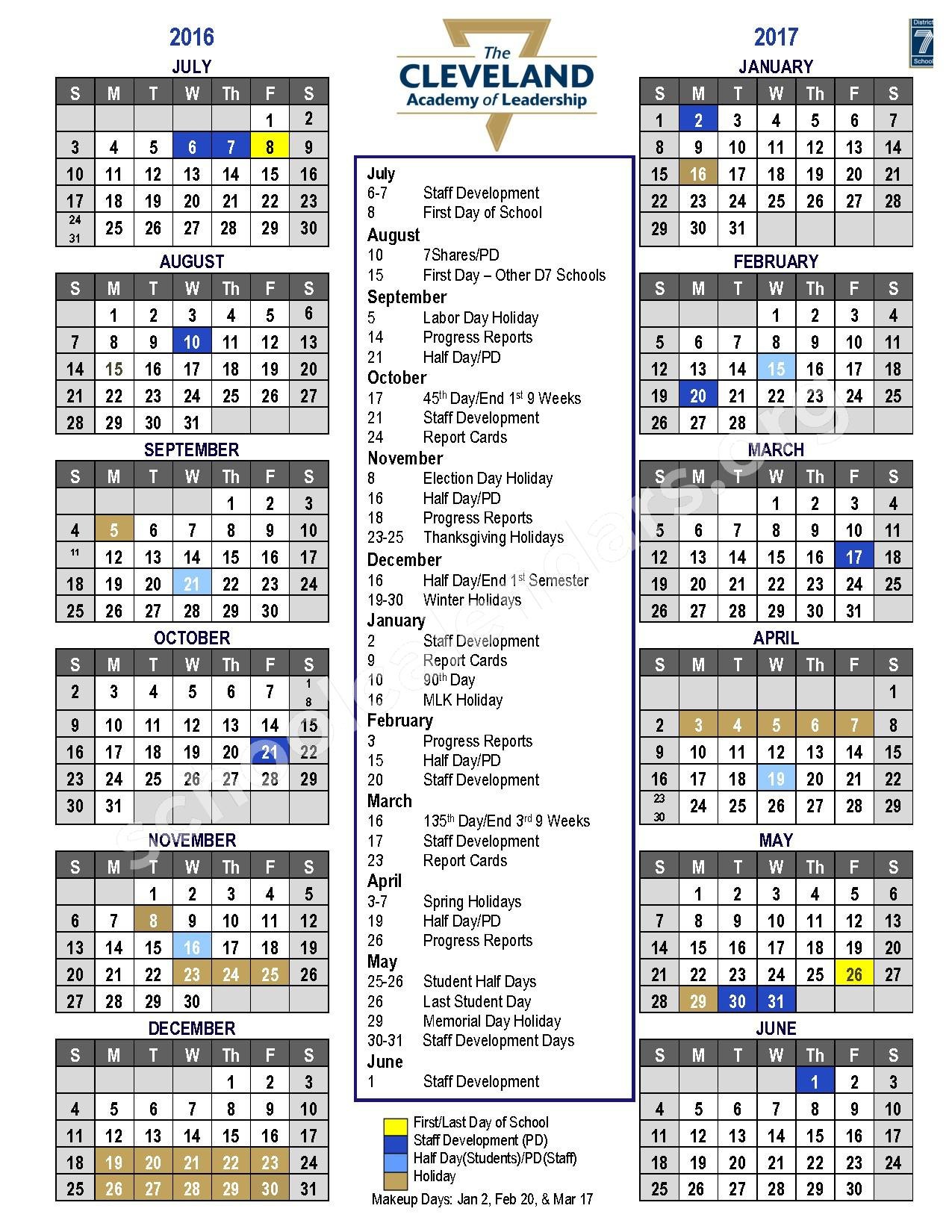 Spartanburg School District 7 Calendars Spartanburg Sc