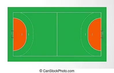 handballplatz mit markierungen canstock