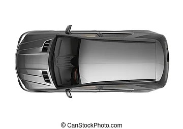 Suv Car Top View Suv Car Automotive Top View 3d Rendering