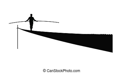 Image result for tightrope walker cartoon