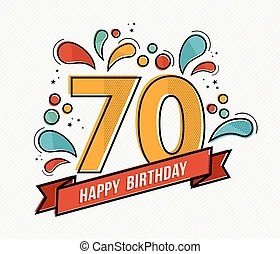 Download 70th birthday Vector Clip Art Royalty Free. 171 70th ...