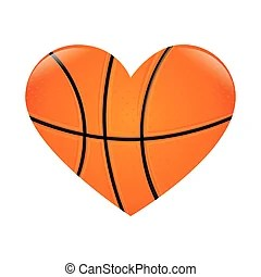 Download Basketball heart Vector Clipart EPS Images. 578 Basketball ...