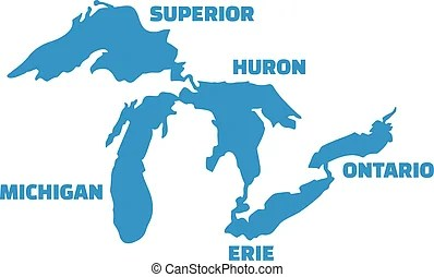 Great lakes Vector Clipart Royalty Free. 221 Great lakes ...