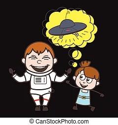 Cute Astronaut Cartoon Girl Vector vector clipart - Search ...