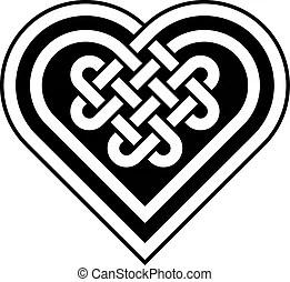 Download Decorative celtic love knot, also called quadruple solomon ...