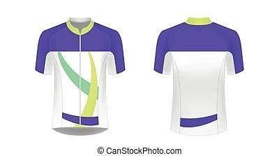 Download Cycling jersey mockup. Cycling jersey vector mockup. t ...