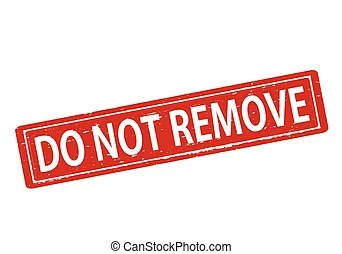 Remove. Stamp with remove inside, vector illustration.