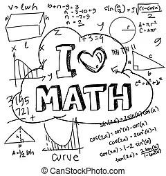 I love math showing shool education or mathematics concept ...