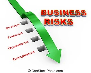 Risks and challenges of business life. Pencil drawing as illustraion of risks and challenges inbusiness.