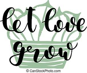 Download Let love sparkle. brush lettering illustration. Let love ...