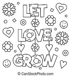 Download Let love grow. lettering vector illustration. Let love ...