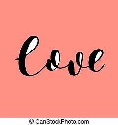 Download Let love grow. brush lettering. Let love grow. brush hand ...