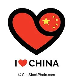 Download China flag love heart concept with the chinese flag in a ...