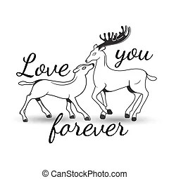 Download Couple deer tribal illustration.
