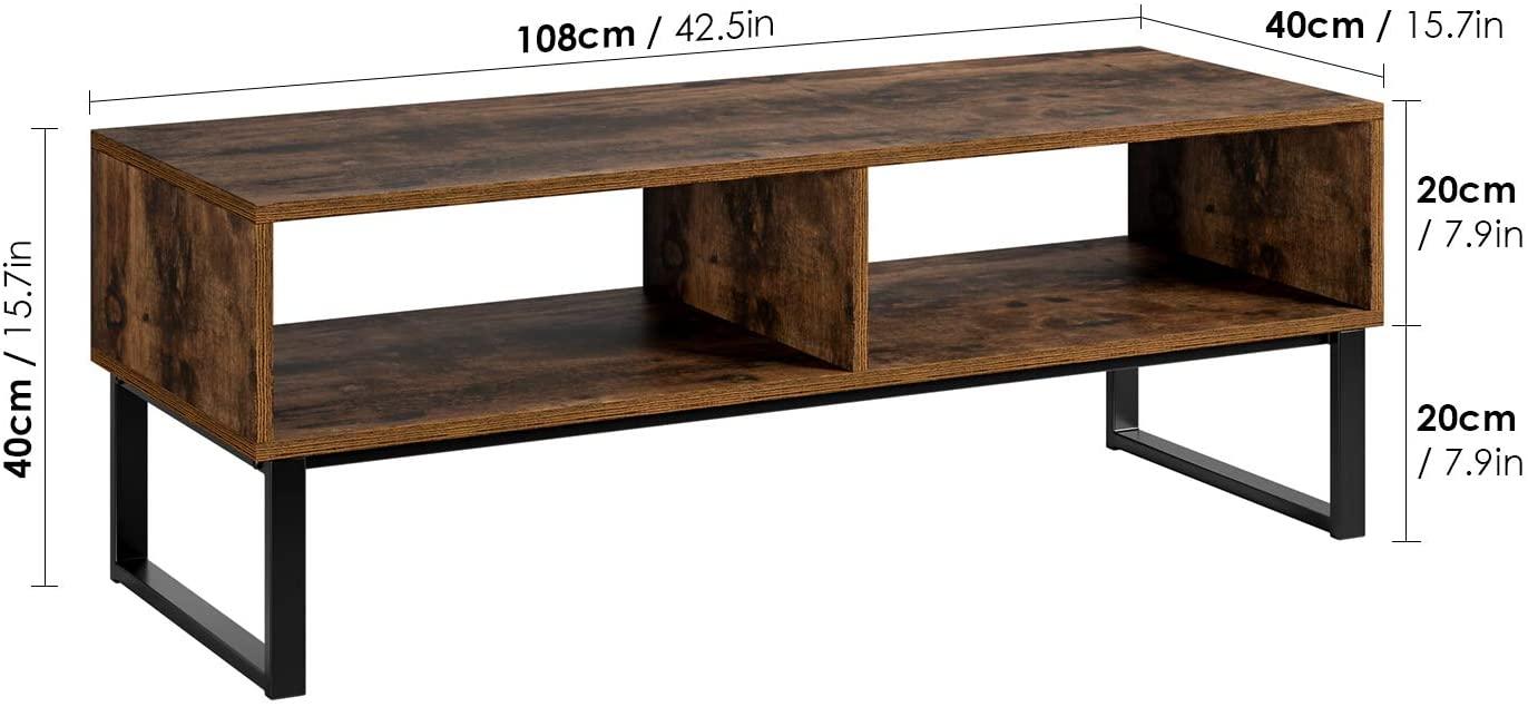 meuble tv vintage meuble television bas table basse table de salon en bois et fer
