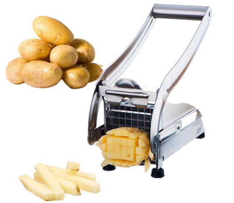 stainless argent presse appareil coupe frites pomme de terre