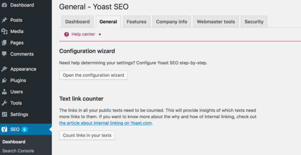 Beginner's guide to Yoast SEO: Where to find the Yoast SEO configuration wizard