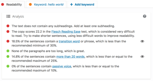 A beginner's guide to Yoast SEO: Readability analysis