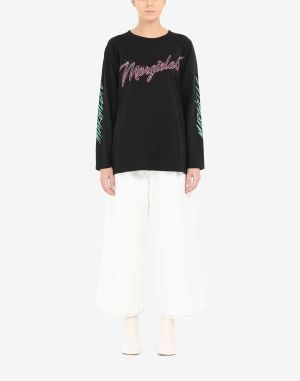 Mm6 By Maison Margiela Long Sleeve T-shirt Black