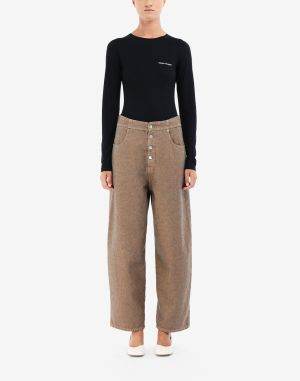 Mm6 By Maison Margiela Jeans Beige
