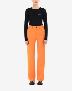 Mm6 By Maison Margiela Casual Pants Orange