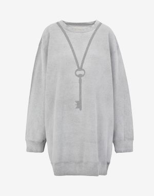 Mm6 By Maison Margiela Sweatshirt Grey Cotton