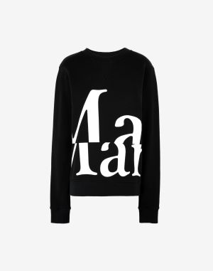 Maison Margiela Sweatshirt Black Cotton, Elastane